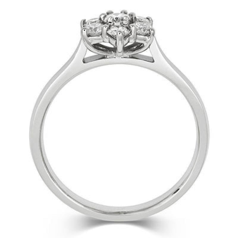 Brilliant Cut 7 Diamond Cluster Ring - CRED Jewellery - Fairtrade Jewellery - 6