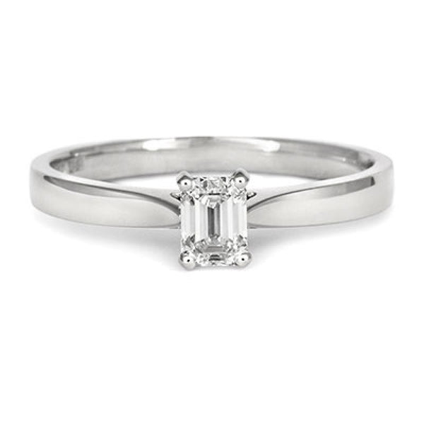 Emerald Cut Diamond Solitaire Ethical Engagement Ring - CRED Jewellery - Fairtrade Jewellery - 2