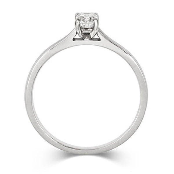 Emerald Cut Diamond Solitaire Ethical Engagement Ring - CRED Jewellery - Fairtrade Jewellery - 3