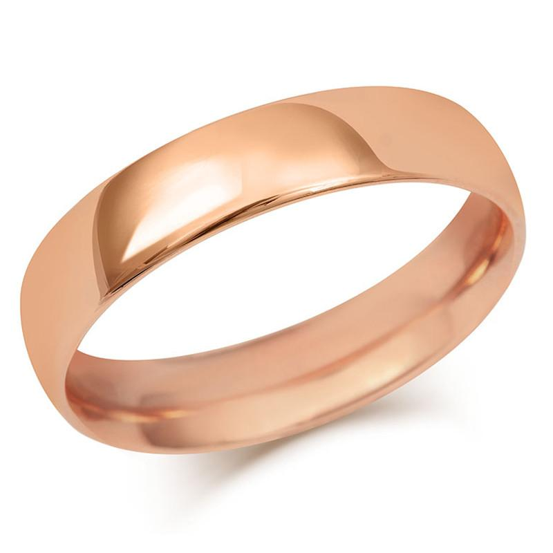 Heavy Mens Court Wedding Ring- Rose, Yellow or White Gold (18ct) or Platinum - CRED Jewellery - Fairtrade Jewellery - 6