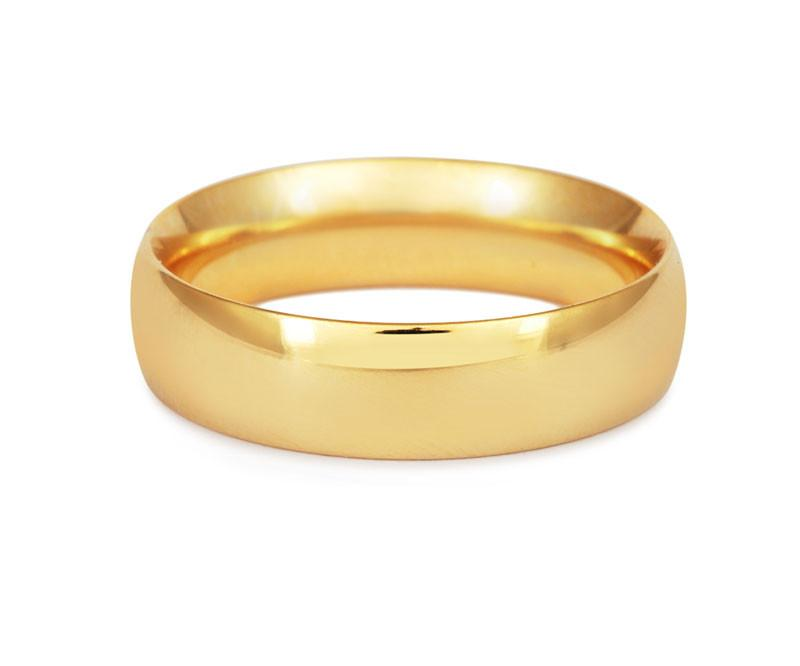 Gents Heavy Weight Court Wedding Ring White Gold 18ct