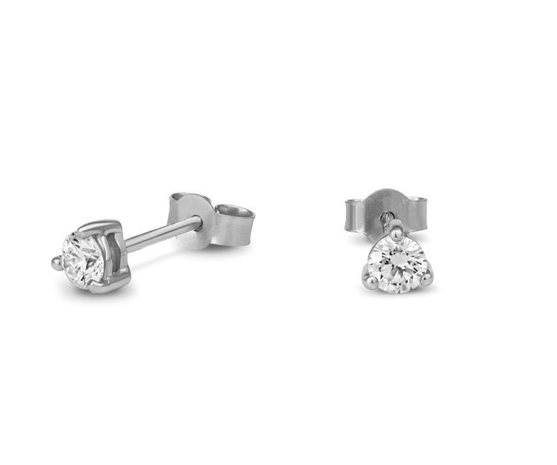Diamond Claw-set Stud Earrings - CRED Jewellery - Fairtrade Jewellery - 1