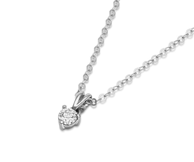 Solitaire Diamond Claw-set Pendant - CRED Jewellery - Fairtrade Jewellery - 4