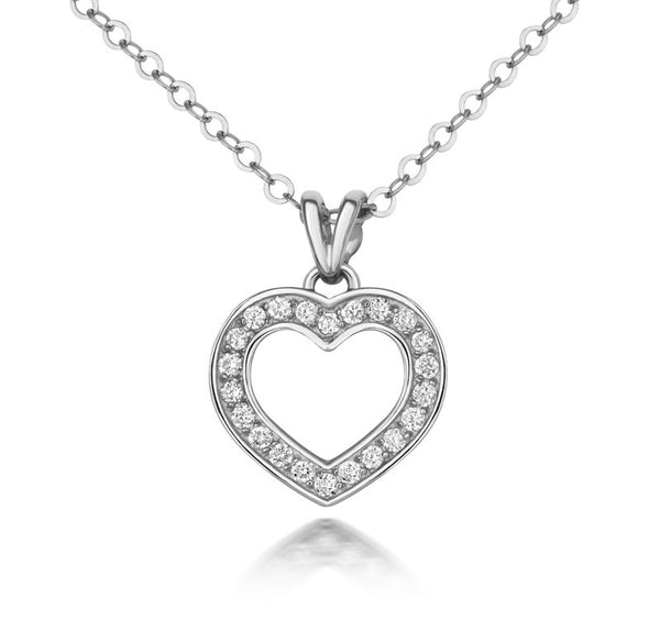 Diamond Heart Pendant - CRED Jewellery - Fairtrade Jewellery - 1