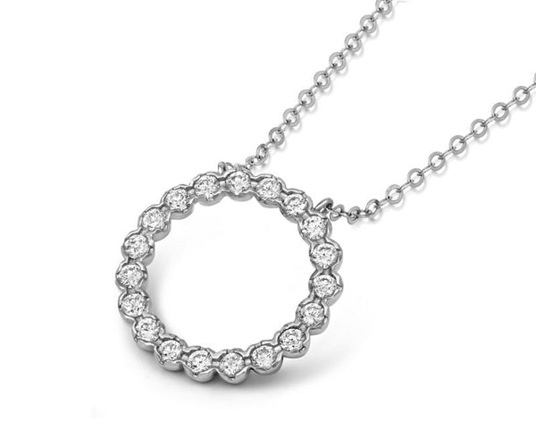 Halo Diamond Pendant - CRED Jewellery - Fairtrade Jewellery - 4
