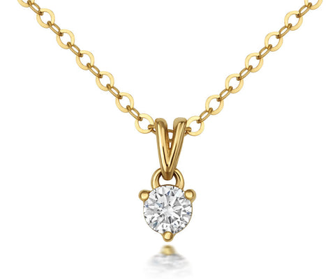 Solitaire Diamond Claw-set Pendant