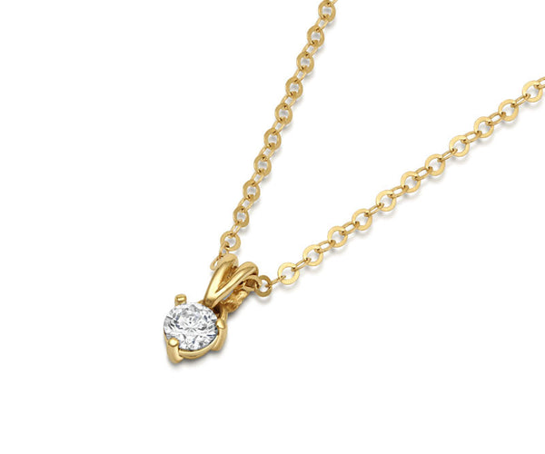 Solitaire Diamond Claw-set Pendant - CRED Jewellery - Fairtrade Jewellery - 3