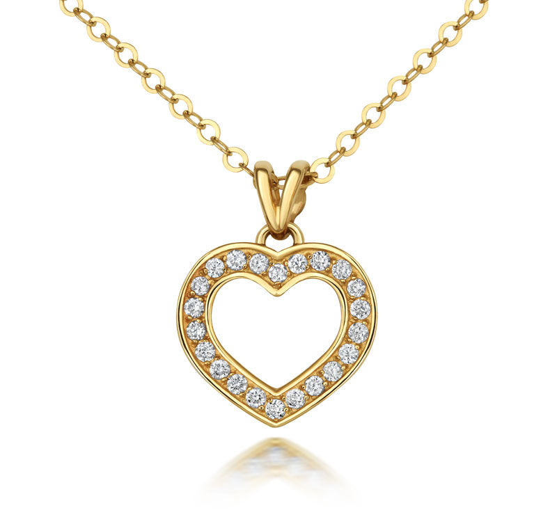 Diamond Heart Pendant - CRED Jewellery - Fairtrade Jewellery - 2