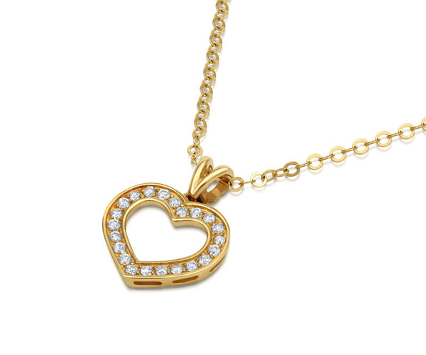 Diamond Heart Pendant - CRED Jewellery - Fairtrade Jewellery - 3