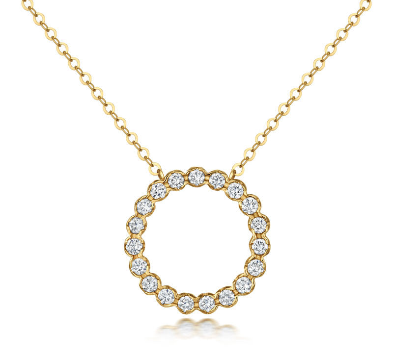 Halo Diamond Pendant - CRED Jewellery - Fairtrade Jewellery - 2