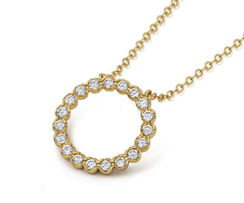 Halo Diamond Pendant - CRED Jewellery - Fairtrade Jewellery - 3