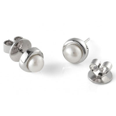 Alice Classic Jersey Pearl Studs