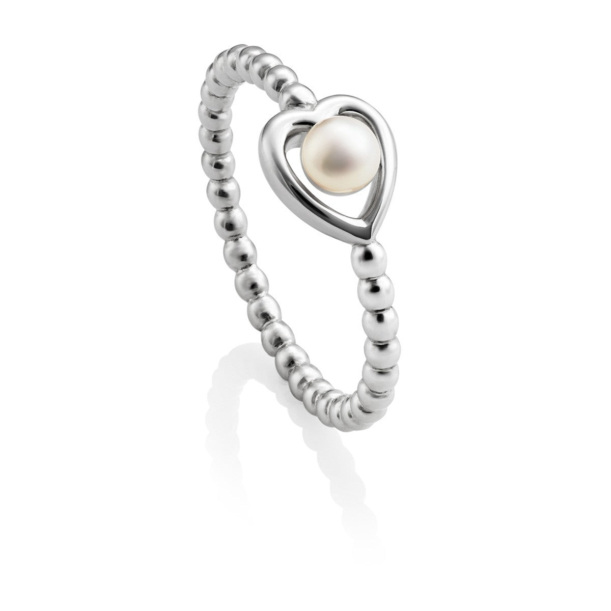 Aphrodite Heart Jersey Pearl Ring - CRED Jewellery - Fairtrade Jewellery - 2