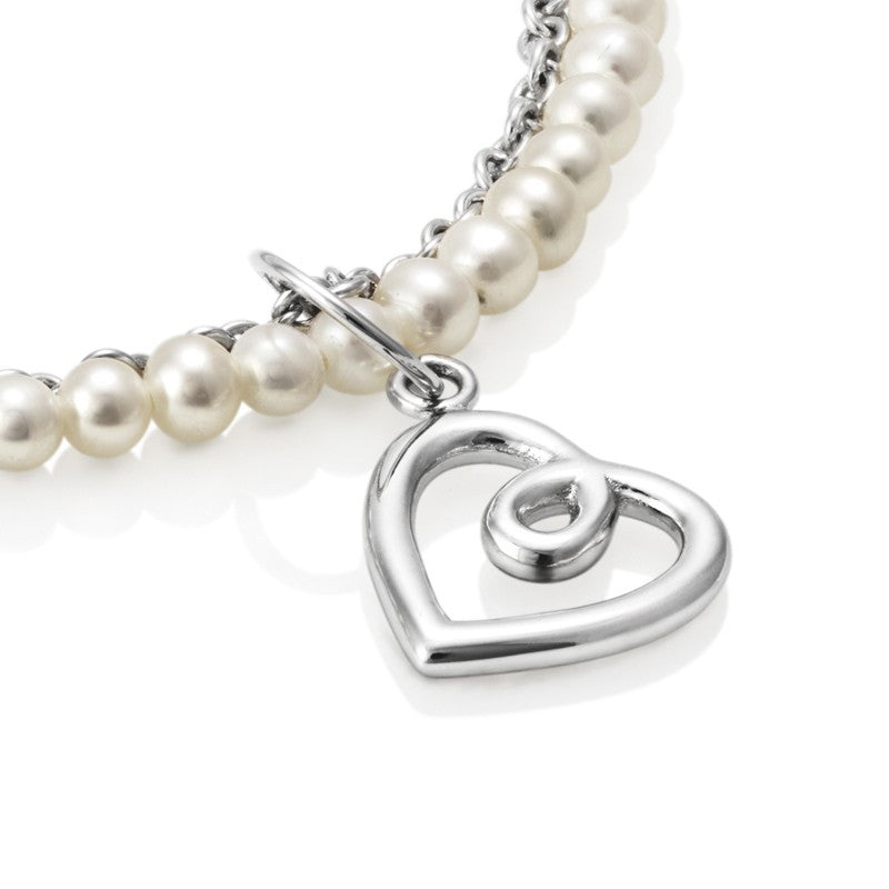 Aphrodite Heart Jersey Pearl Bracelet - CRED Jewellery - Fairtrade Jewellery - 2
