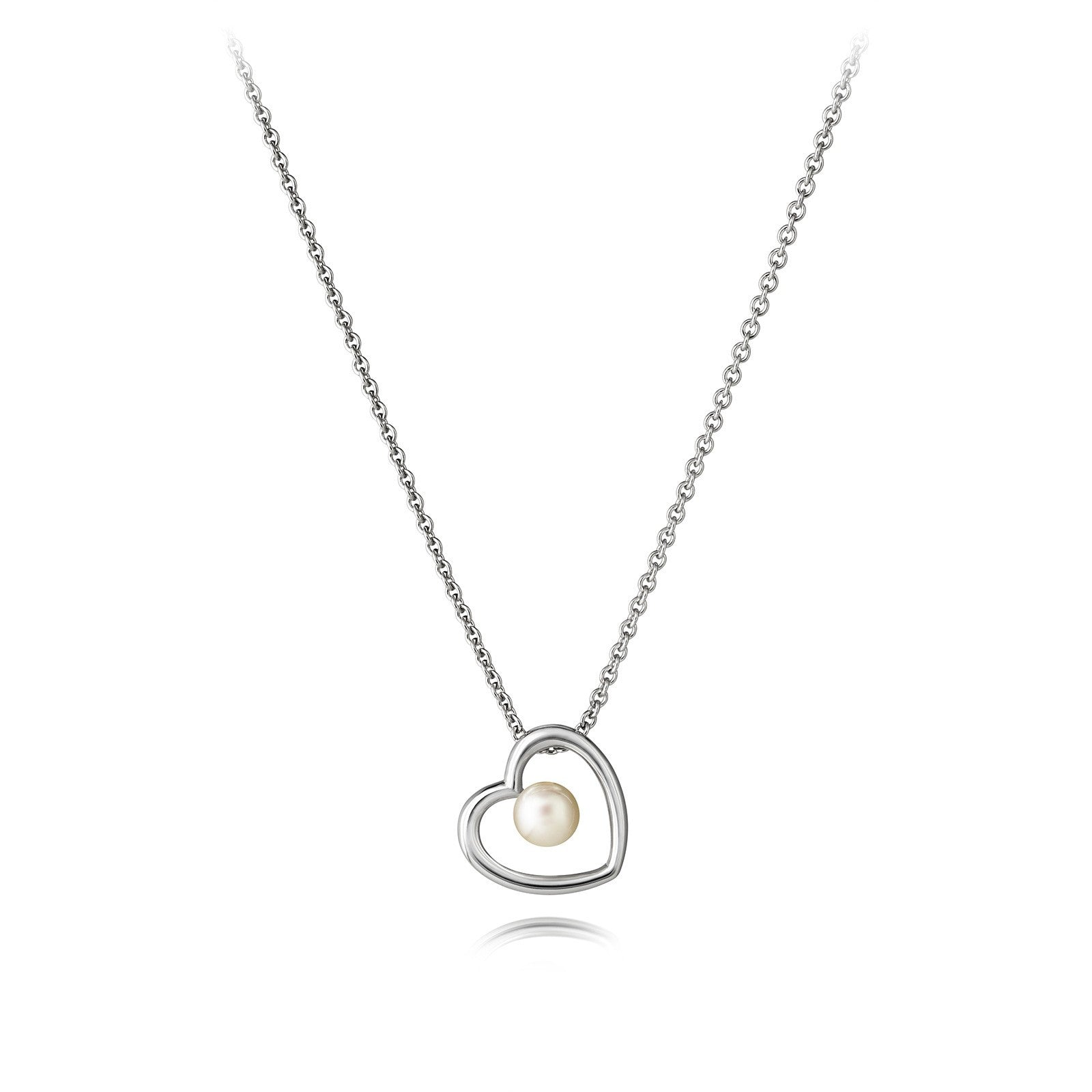 Aphrodite Heart Jersey Pearl Simple Pendant - CRED Jewellery - Fairtrade Jewellery - 2