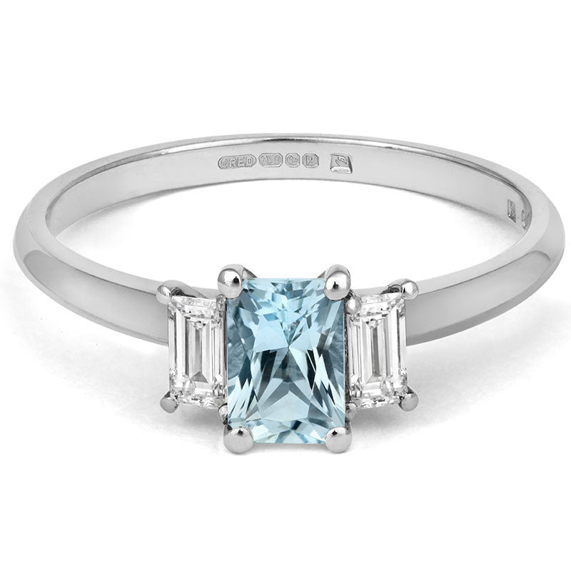 Aqua Trilogy Ring - CRED Jewellery - Fairtrade Jewellery - 2