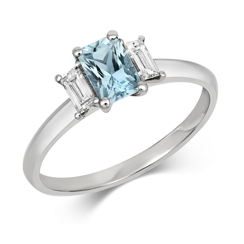 Aqua Trilogy Ring - CRED Jewellery - Fairtrade Jewellery - 1
