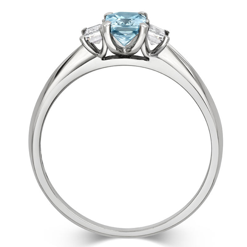 Aqua Trilogy Ring - CRED Jewellery - Fairtrade Jewellery - 3