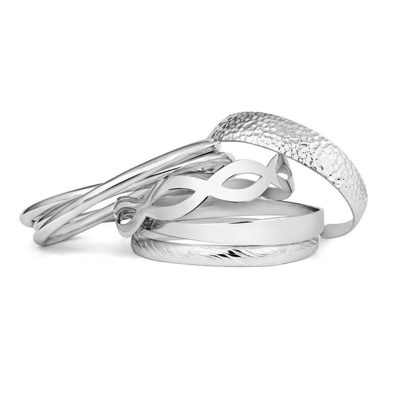 Smooth Ripple Bangle - CRED Jewellery - Fairtrade Jewellery - 2