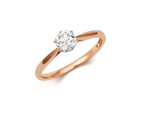Antique Basket 0.30ct Ethical Solitaire Diamond Engagement Ring - (18ct) Rose Gold