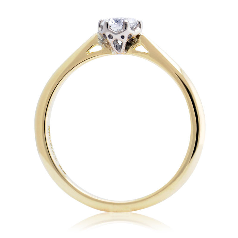 0.3ct Antique Basket Ethical Diamond Solitaire Engagement Ring - CRED Jewellery - Fairtrade Jewellery - 2