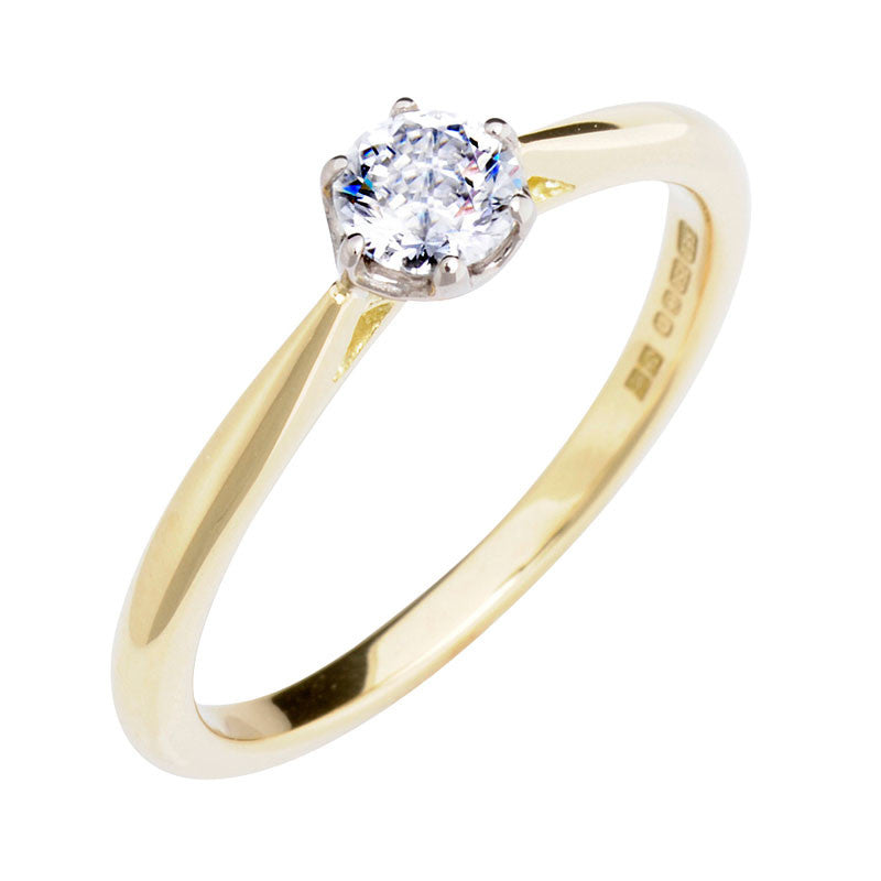 0.3ct Antique Basket Ethical Diamond Solitaire Engagement Ring - CRED Jewellery - Fairtrade Jewellery - 1