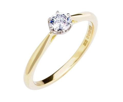 Antique Basket 0.30ct Ethical Solitaire Diamond Engagement Ring