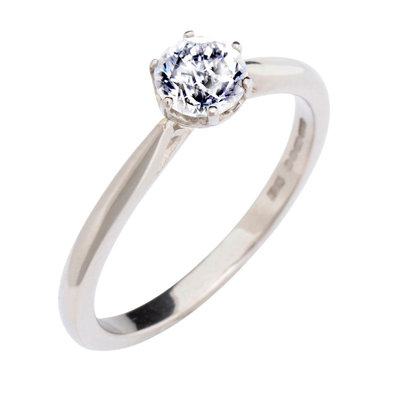 0.5ct Antique Basket Ethical Diamond Solitaire Ring - CRED Jewellery - Fairtrade Jewellery - 1