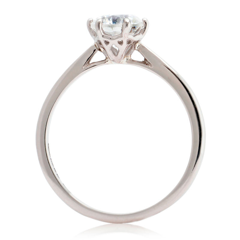 diamond basket ring engagement four band b with prong rings