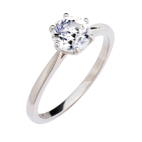 Antique Basket Solitaire Ring