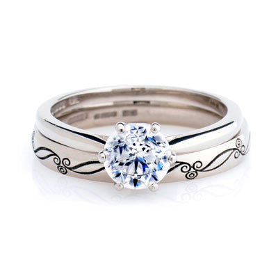 0.5ct Antique Basket Ethical Diamond Solitaire Ring - CRED Jewellery - Fairtrade Jewellery - 4