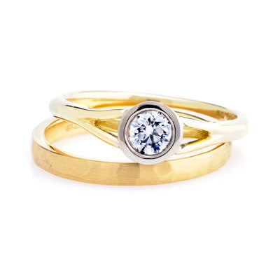 Court Hammered Wedding Ring- Yellow or White Gold (18ct) or Platinum - CRED Jewellery - Fairtrade Jewellery - 8