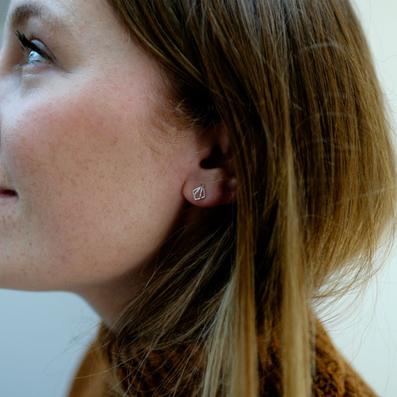 Nouveau Stud Earrings - CRED Jewellery - Fairtrade Jewellery - 2