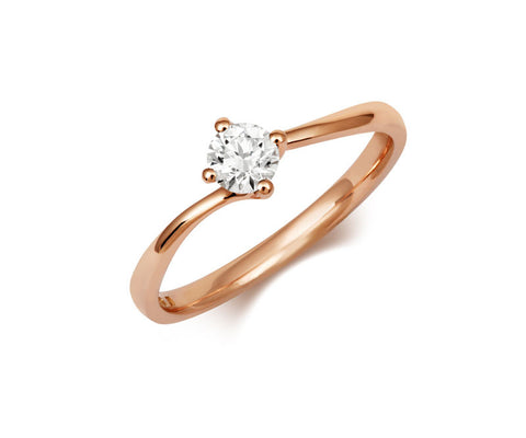 Twist Solitaire Ethical Diamond Rose Gold Engagement Ring