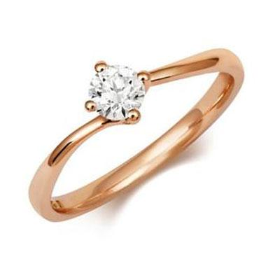 Nigella - Twist Ethical Solitaire 0.3ct Diamond Engagement Ring