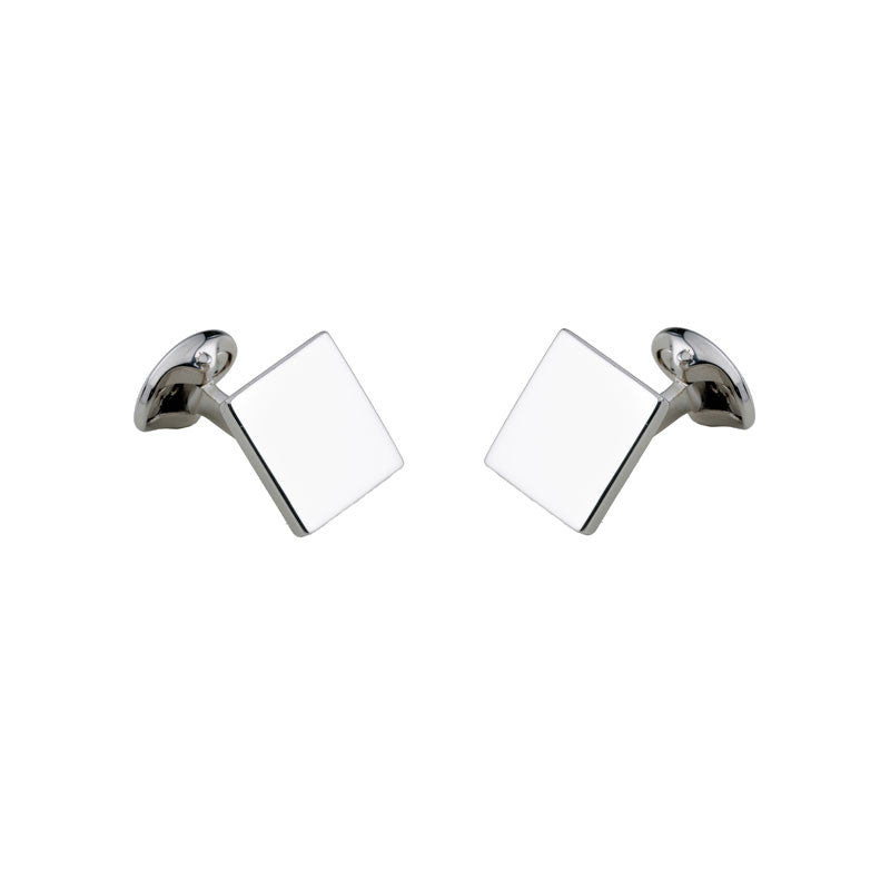 Silver Plain Square Cufflinks - CRED Jewellery - Fairtrade Jewellery