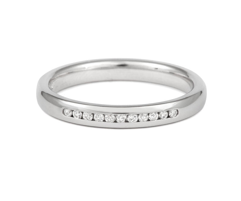 Channel Set Brilliant Cut Diamond Half Eternity Ring - CRED Jewellery - Fairtrade Jewellery - 2