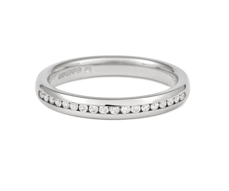 Channel Set Brilliant Cut Diamond Half Eternity Ring - CRED Jewellery - Fairtrade Jewellery - 4