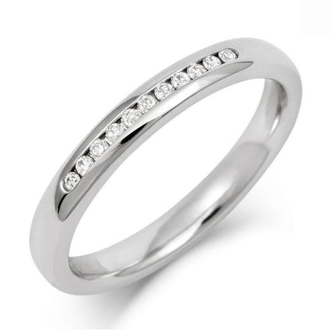 Channel Set Brilliant Cut 1/4 Lab Grown Diamond Eternity/ Wedding Ring - Platinum