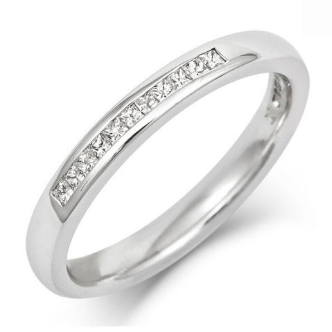 Channel Set Princess Cut Diamond Eternity/Wedding Ring