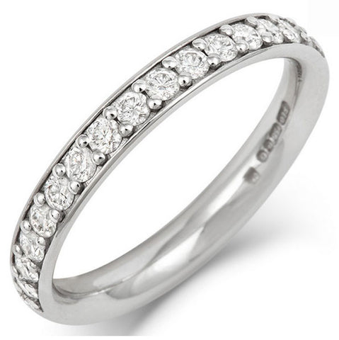 Classic (3mm) Pave Set Diamond Eternity/Wedding Ring