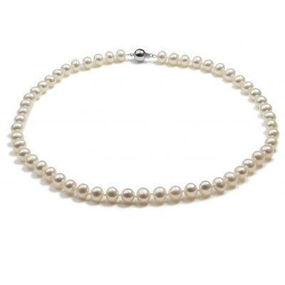 Classic Pearl Necklace - CRED Jewellery - Fairtrade Jewellery - 1