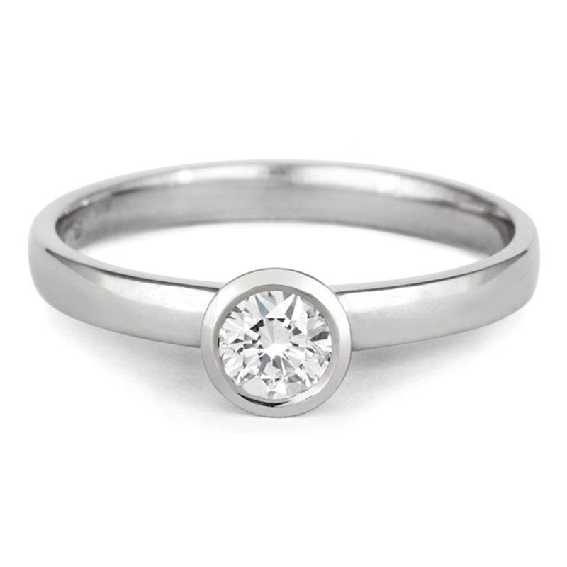 Classic Rubover Rose Gold Solitaire - CRED Jewellery - Fairtrade Jewellery - 2