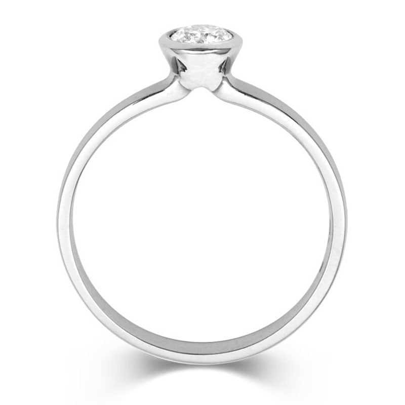 Classic Rubover Rose Gold Solitaire - CRED Jewellery - Fairtrade Jewellery - 3