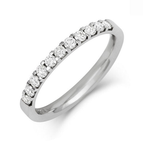 Claw Set Diamond Half Eternity/Wedding Ring - (18ct) Yellow, White or Rose gold