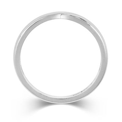 Crossover Wedding Band- Yellow or White Gold (18ct) or Platinum - CRED Jewellery - Fairtrade Jewellery - 3