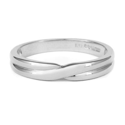 Crossover Wedding Band- Yellow or White Gold (18ct) or Platinum - CRED Jewellery - Fairtrade Jewellery - 2