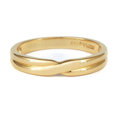 Crossover Wedding Band- Yellow or White Gold (18ct) or Platinum - CRED Jewellery - Fairtrade Jewellery - 5