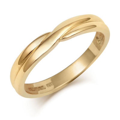 Crossover Wedding Band- Yellow or White Gold (18ct) or Platinum - CRED Jewellery - Fairtrade Jewellery - 4