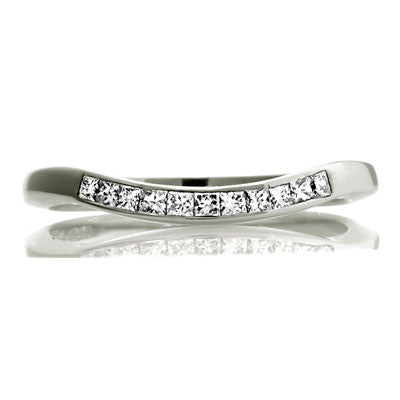 Deco Sweep - Half Eternity Fitted Band - CRED Jewellery - Fairtrade Jewellery - 2